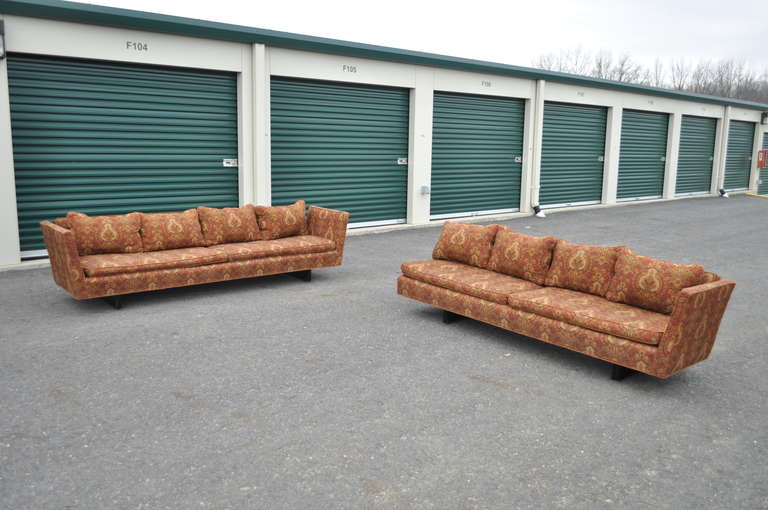 Edward Wormley for Dunbar Two-Part Split Open Arm Bracket Back Sectional Sofa 3