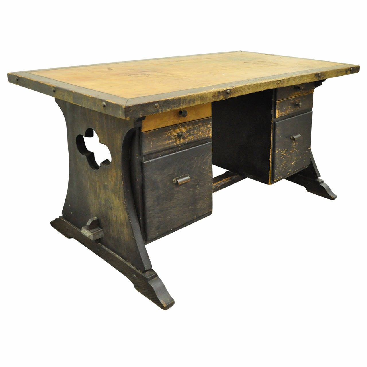 Early 20th century custom mission or arts and crafts style for Art and craft workstation