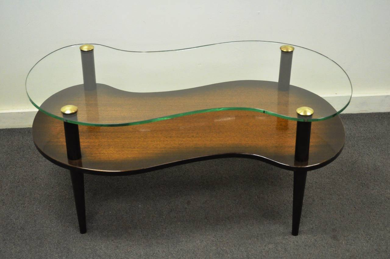 two tier mid century modern cloud coffee table after gilbert