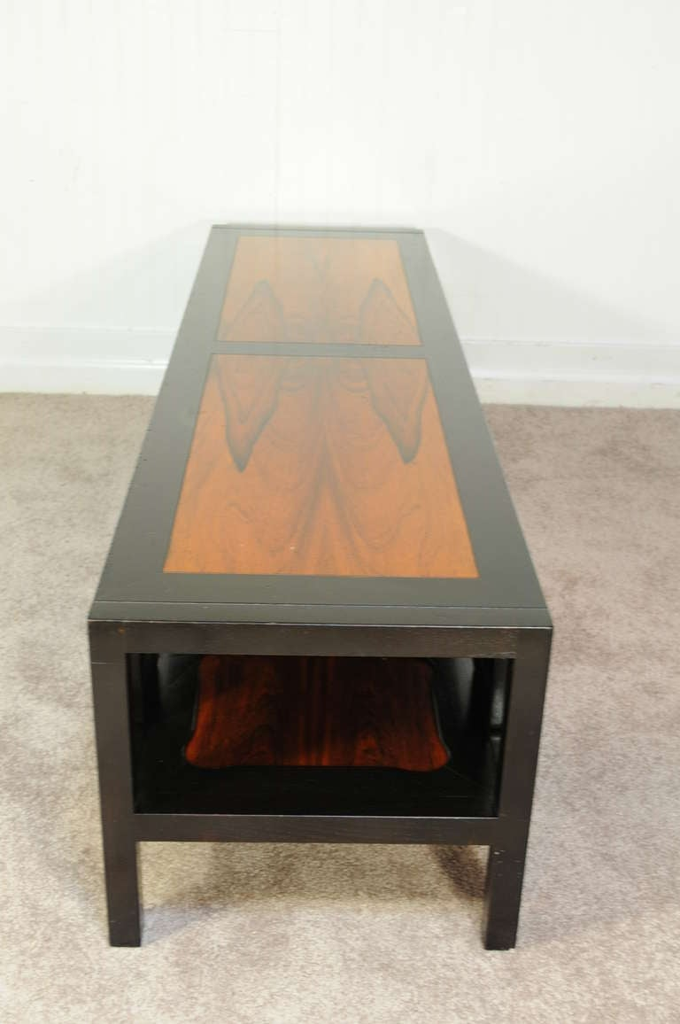 Baker Rosewood And Ebonized Greek Key Coffee Table Attr Michael Taylor At 1stdibs