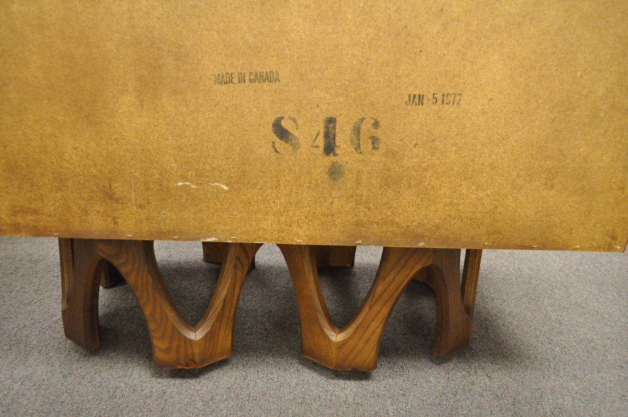 Mid Century Modern Brutalist Walnut Armoire Dresser Tall Chest after Paul Evans For Sale 3