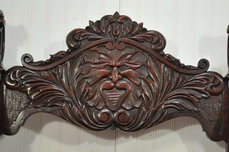 Renaissance Revival Mahogany North Wind Face Curule Throne