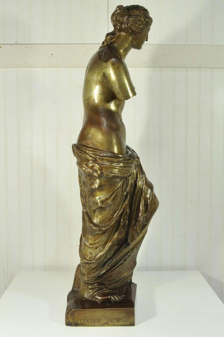 35 Quot Tall Antique French Bronze Venus De Milo Reduction