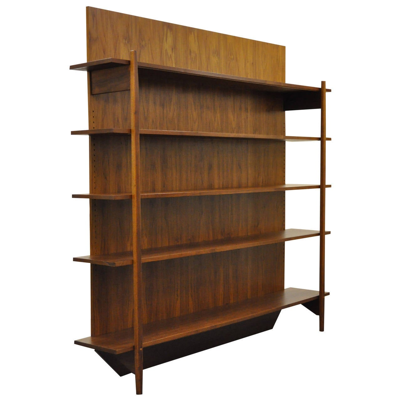 Custom-Crafted Mid-Century Modern Teak Bookcase In The Danish Taste 1