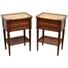 Pair of French Louis XVI Style Nightstands or End Tables