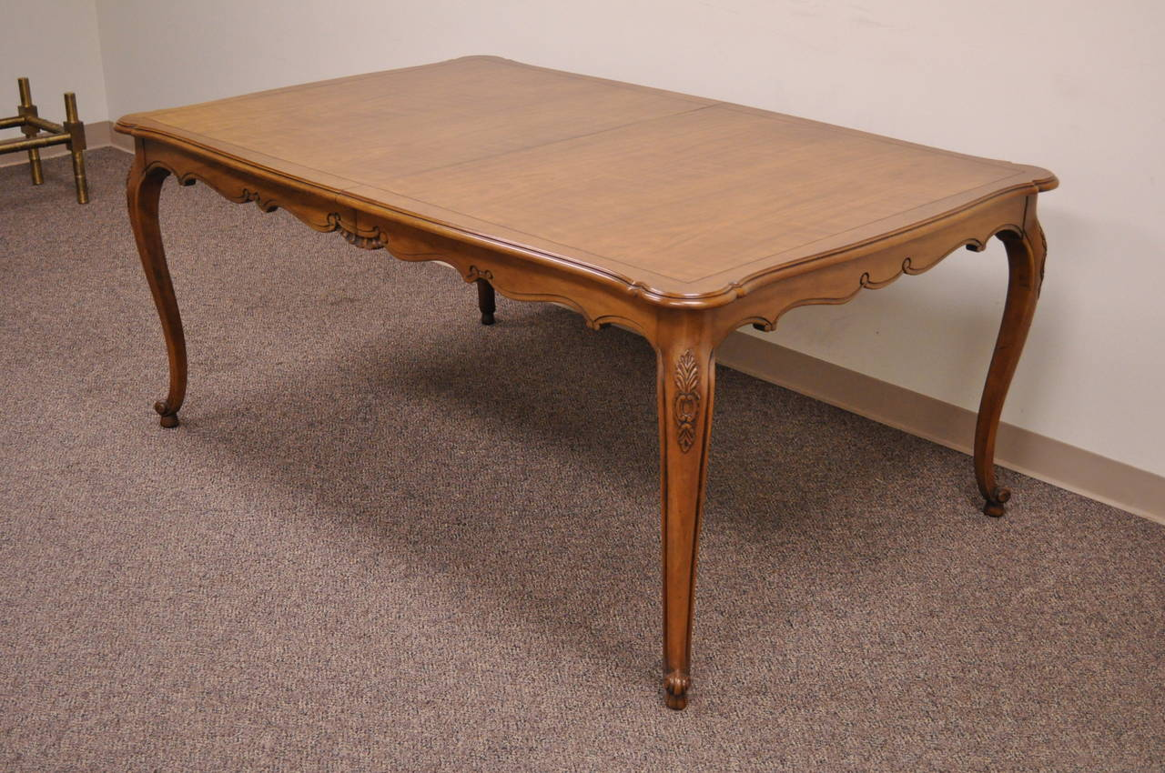 A Hand Carved Solid Cherry Dining Table In The French Country Louis XV Taste