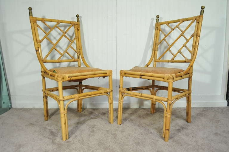 4 Real Not Faux Bamboo 1940 S Chinese Chippendale Chairs
