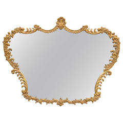 Stunning French Rococo Style Giltwood and Gesso Acanthus Sofa or Wall Mirror