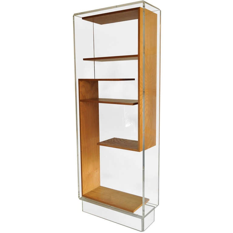 Mid Century Modern Charles Hollis Jones Lucite Small: Custom Mid-Century Modern Lucite Etagere Or Bookcase After