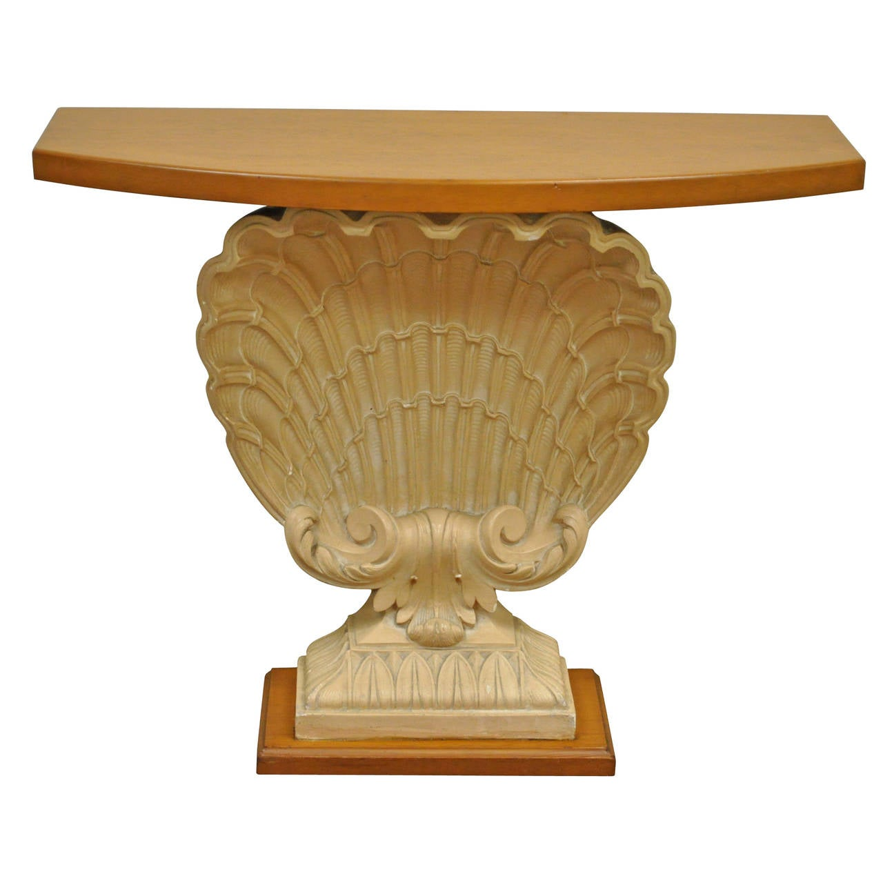 Shell Form Console Table Attributed to Grosfeld House, circa 1940s