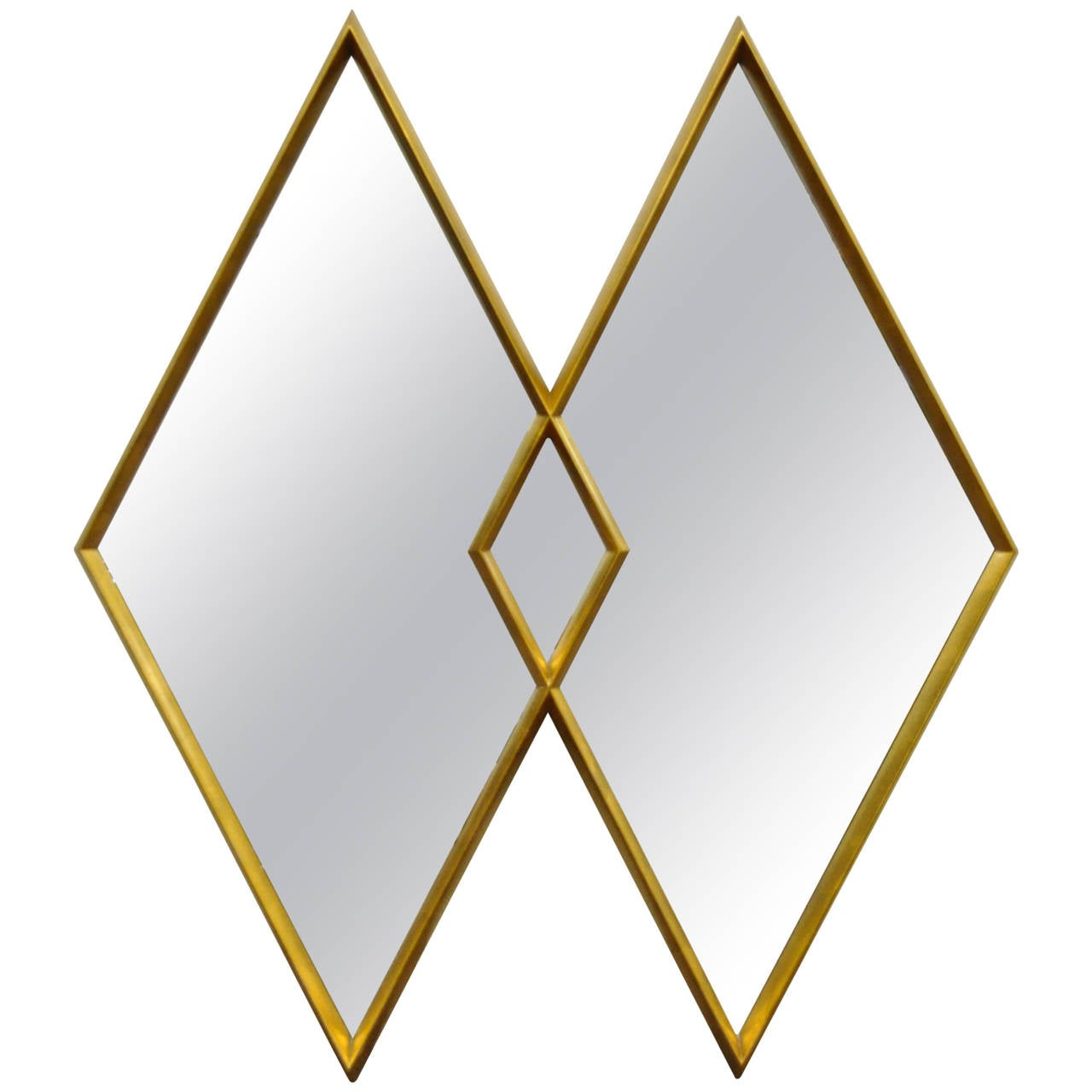 wall mirror clipart. interlocking diamond gold leaf deep frame wall mirror attributed to labarge 1 clipart