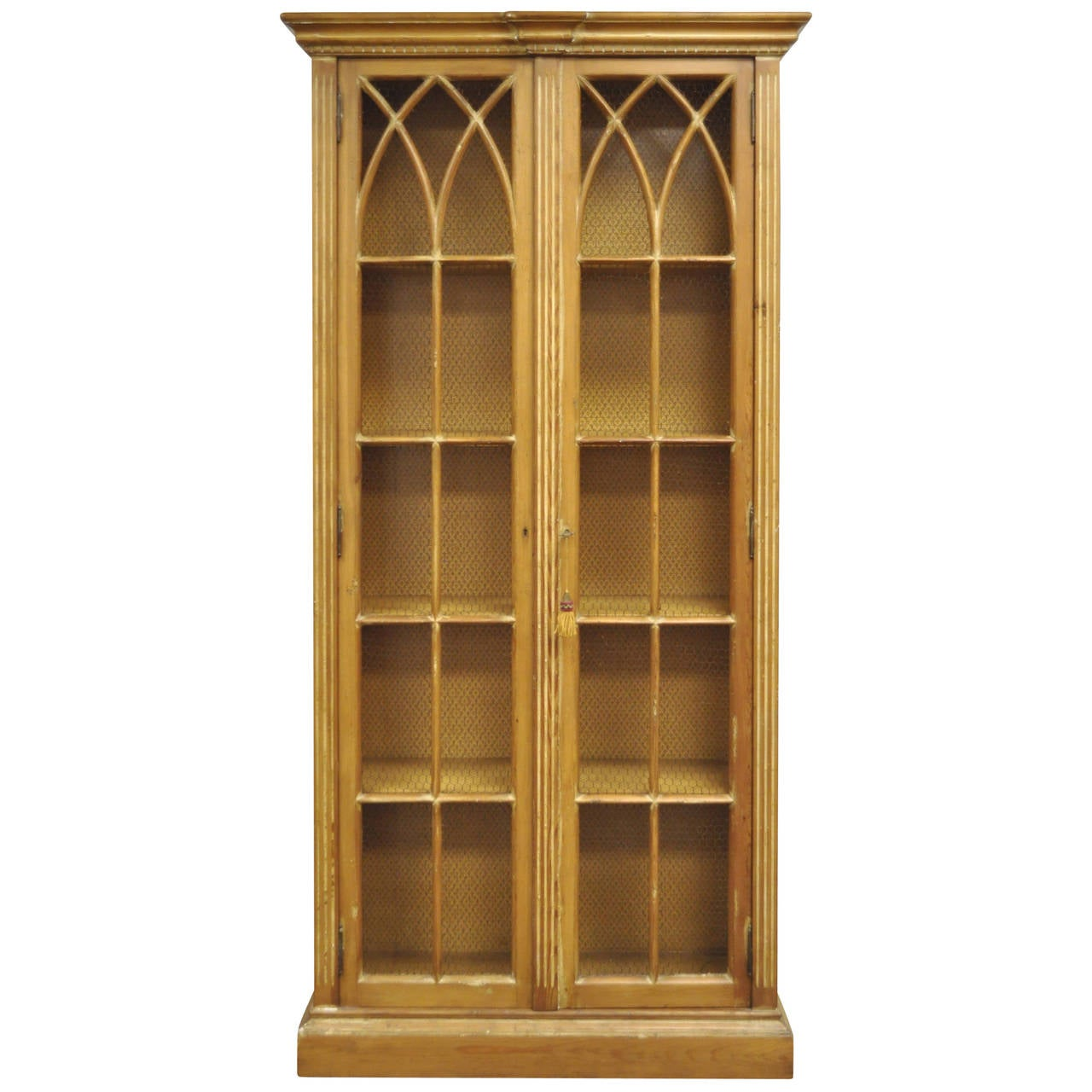 Antiqued And Distress Finished Italian Bookcase In The