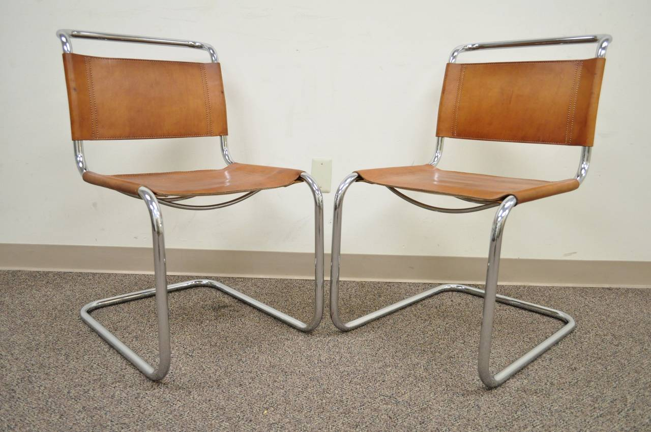 lounge vintage van for mies of mr chair rohe thonet set chairs by der