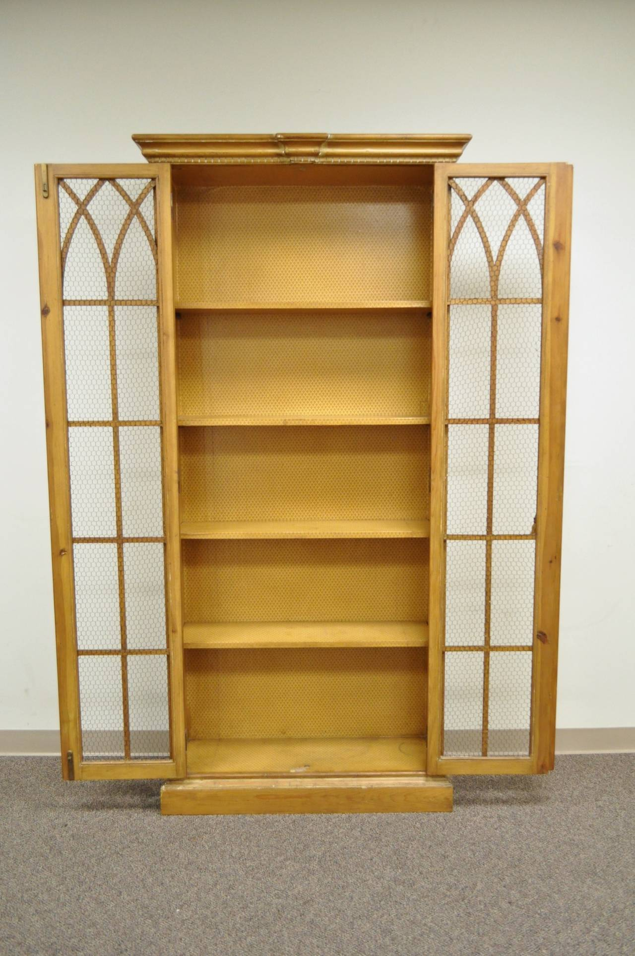 Antiqued and Distress Finished Italian Bookcase in the Mission or ...