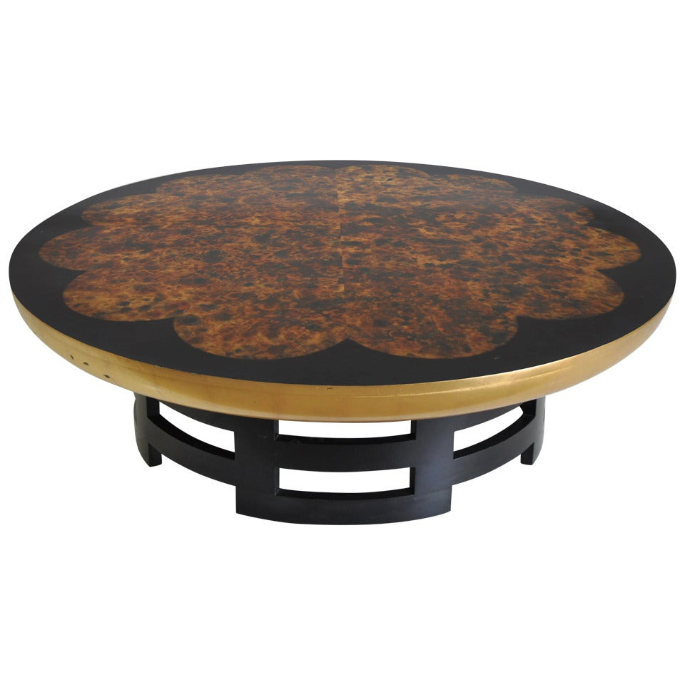 """Muller and Barringer for Kittinger 48"""" Round Lotus Coffee Cocktail Table"""