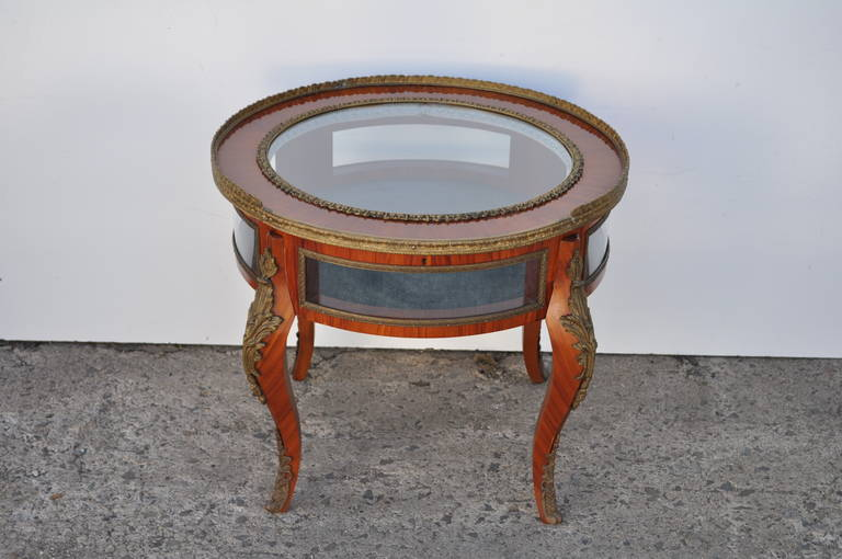 French Louis XV Style Bronze Ormolu Display Case Coffee Table Image 2