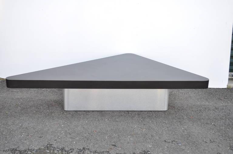 S Triangular Steel Coffee Table MidCentury Modern Large Pierre - Mid century triangle coffee table