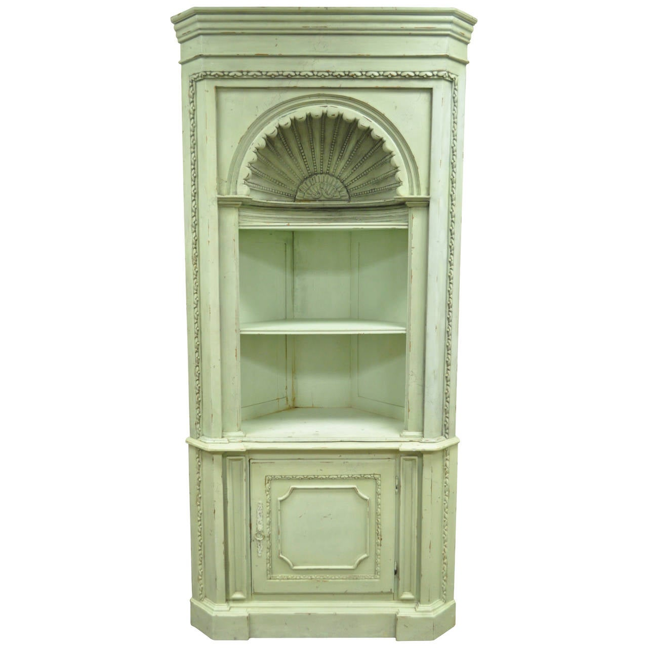 distressed 20th c shell carved country french style. Black Bedroom Furniture Sets. Home Design Ideas