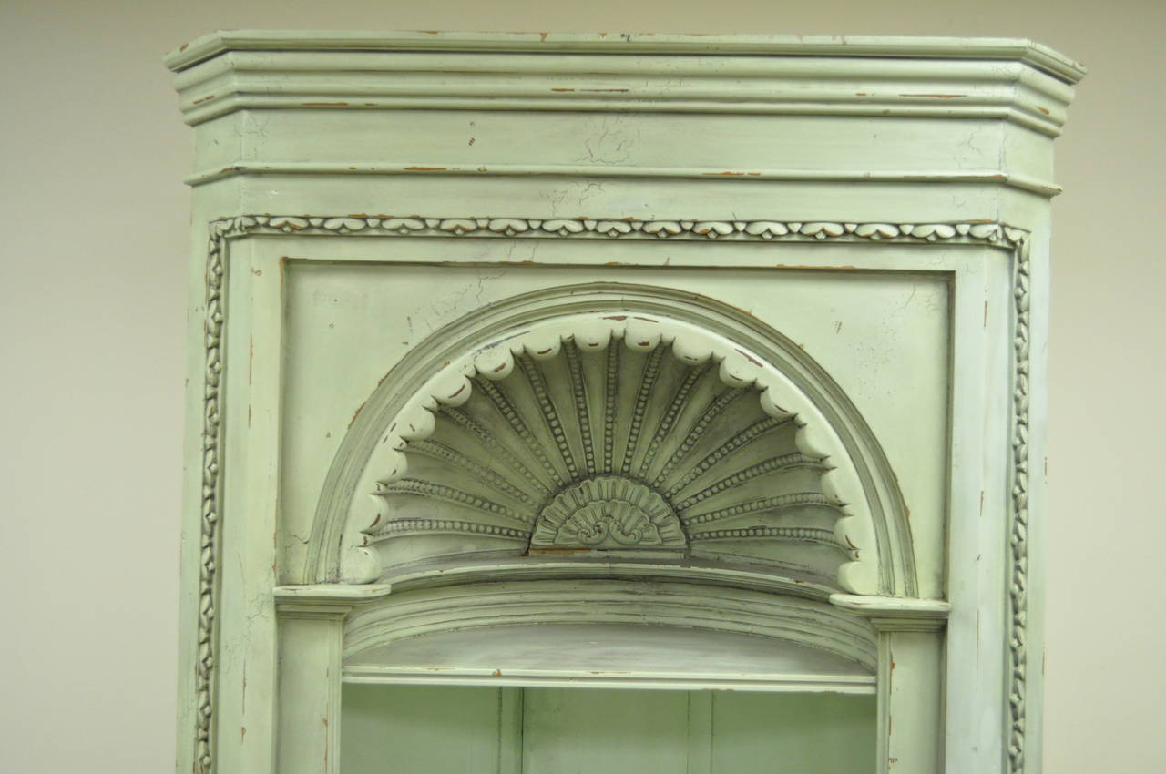 Distressed 20th C Shell Carved Country French Style
