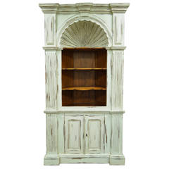 20th Century Shell Carved Country French Style Corner Cabinet Cupboard