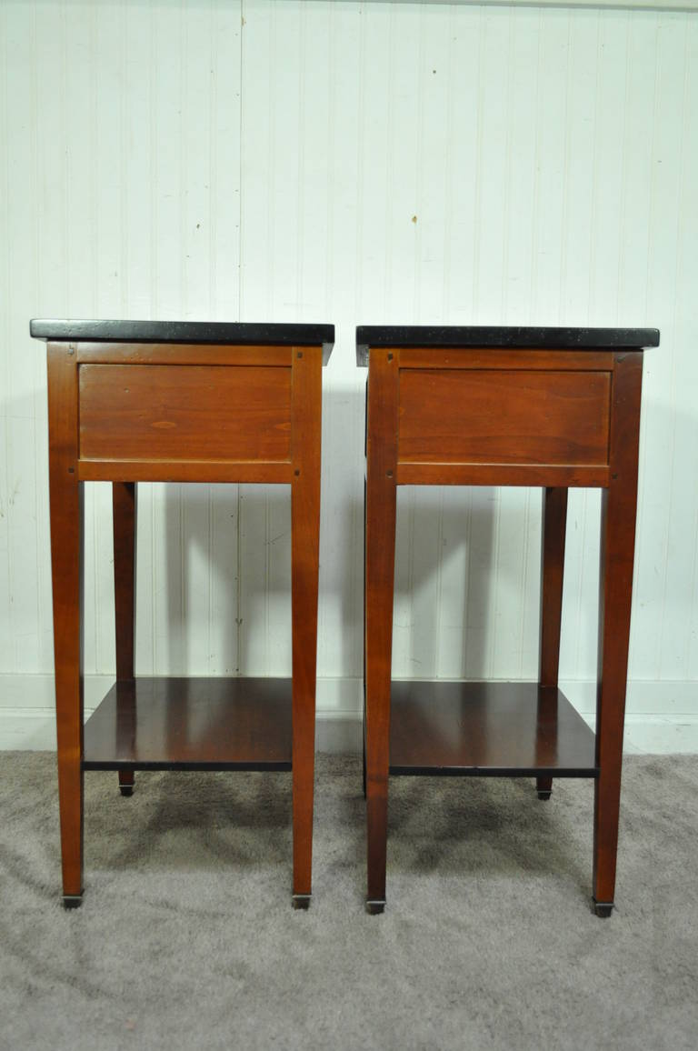 Pair Of French Country Style Cherry Nightstands End Tables