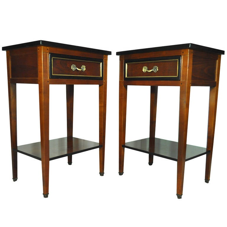 Captivating Pair Of French Country Style Cherry Nightstands End Tables Made In France,  GEKA 1