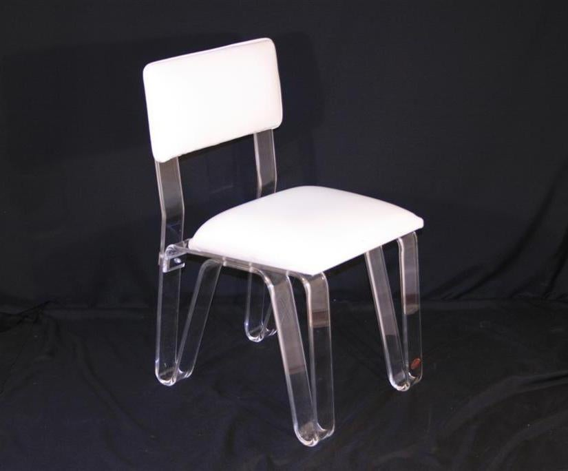 Unique lucite hairpin leg vanity chair by karmel at 1stdibs - Acrylic vanity chair ...