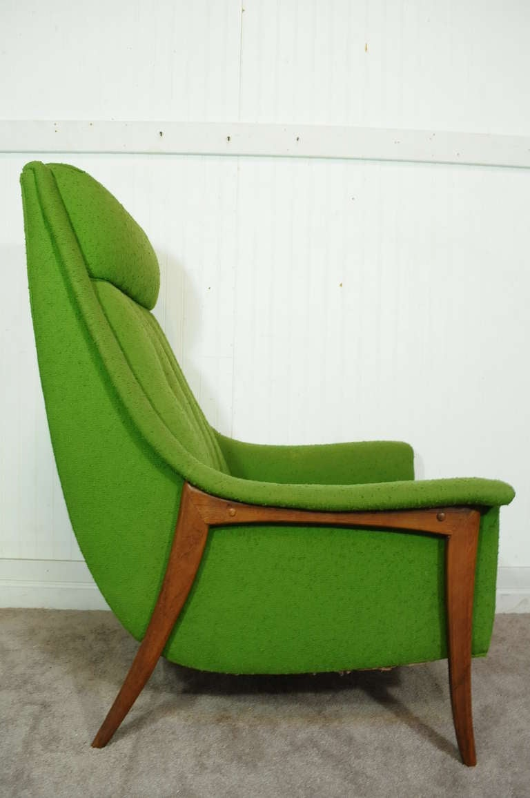 Mid century danish modern teak klismos lounge chair after for Contemporary seating chairs