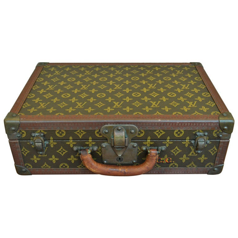 b3704496ac5e Louis Vuitton Luggage Hard Case Suitcase or Briefcase For Sale. Beautiful  Vintage Louis Vuitton Hard Case Suitcase Circa 1930. This wonderful piece  features ...