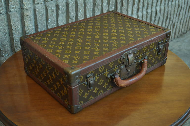 2271c205fe2b Beautiful Vintage Louis Vuitton Hard Case Suitcase Circa 1930. This wonderful  piece features LV embossed