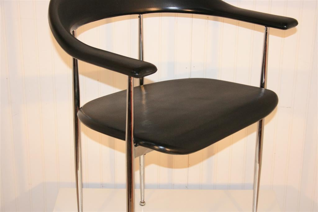 Pair of Italian Chrome and Molded Vinyl Arm Chairs by  : 934113370141494 from www.1stdibs.com size 1024 x 684 jpeg 50kB