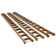 F.E. Myers Bros. Country Store or Library Rustic Ladders with Hardware