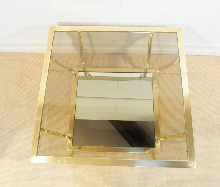 1960's Italian Brass and Glass Hollywood Regency Sculptural Coffee Table 5