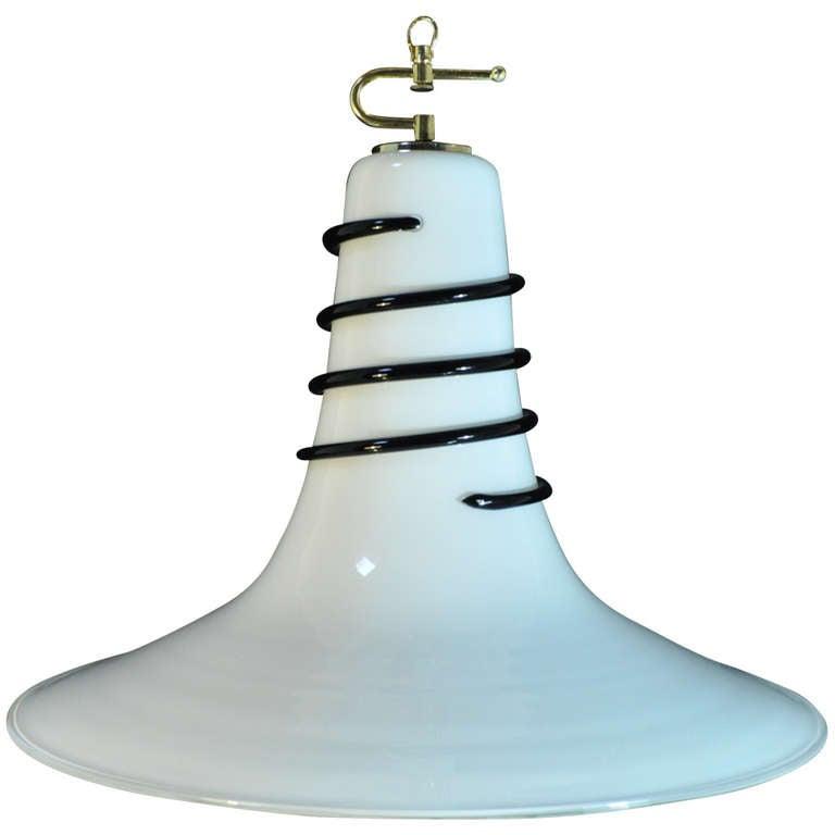 italian pendant lighting. italian murano art glass dishbell shape swirl chandelier pendant light 1 lighting