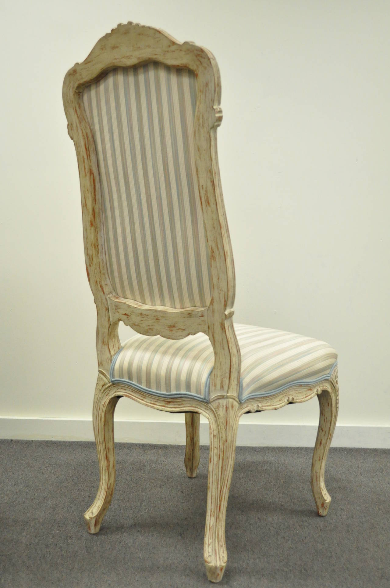 4 Carved Swedish Rococo or French Louis XV Style Painted ...
