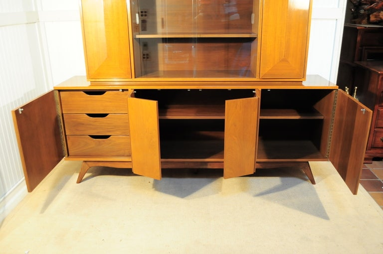 3 Dimensional Diamond Front 2 Piece Credenza Cabinet after Vladimir Kagan image 8