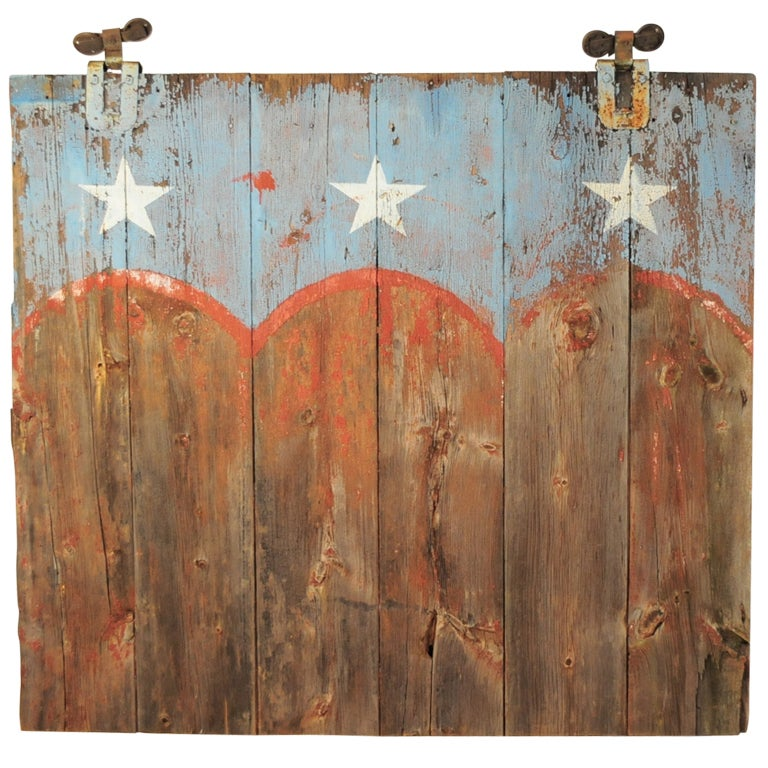 19th C Bucks County PA Weathered Patriotic Painted ...