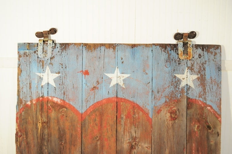 19th C Bucks County Pa Weathered Patriotic Painted