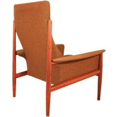Greta Jalk France & Son Danish Modern Teak Lounge Arm Chair