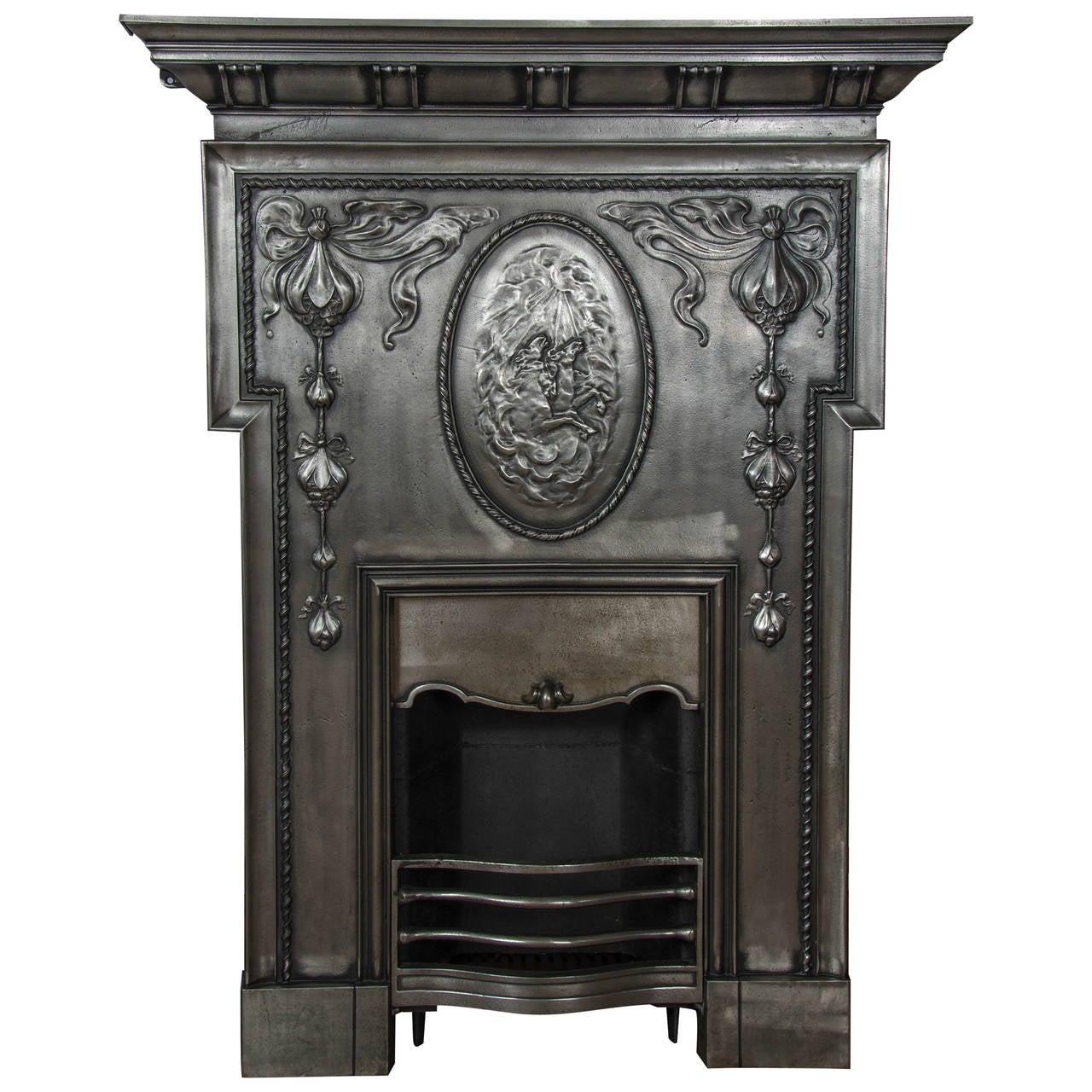 Antique Edwardian Polished Cast Iron Fireplace At 1stdibs