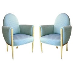 Art Deco French Lounge Chairs Circa 1940