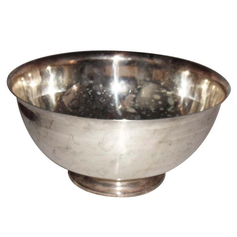 Classic Reed & Barton  1960'silverplate footed bowl