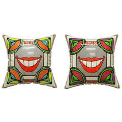Pair of  Pop Art Psychedelic Pillows  by Artist  Peter Max