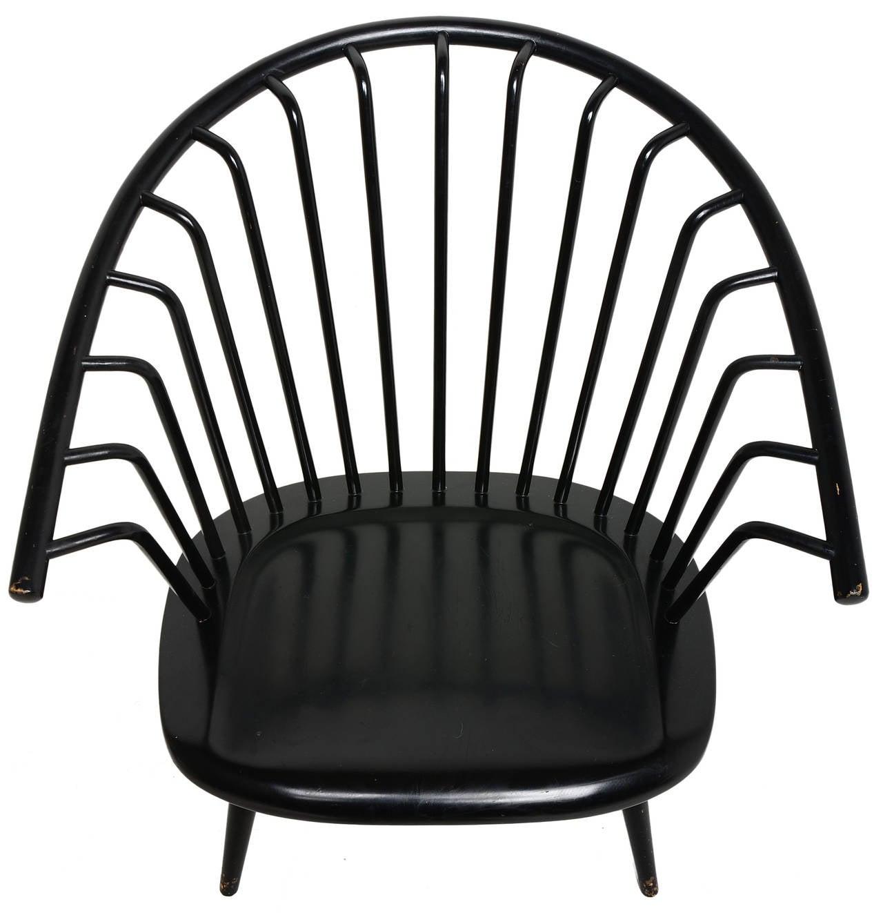Ilmari Tapiovaara Crinolette Lounge Chair In Good Condition For Sale In Brooklyn/Toronto, Ontario