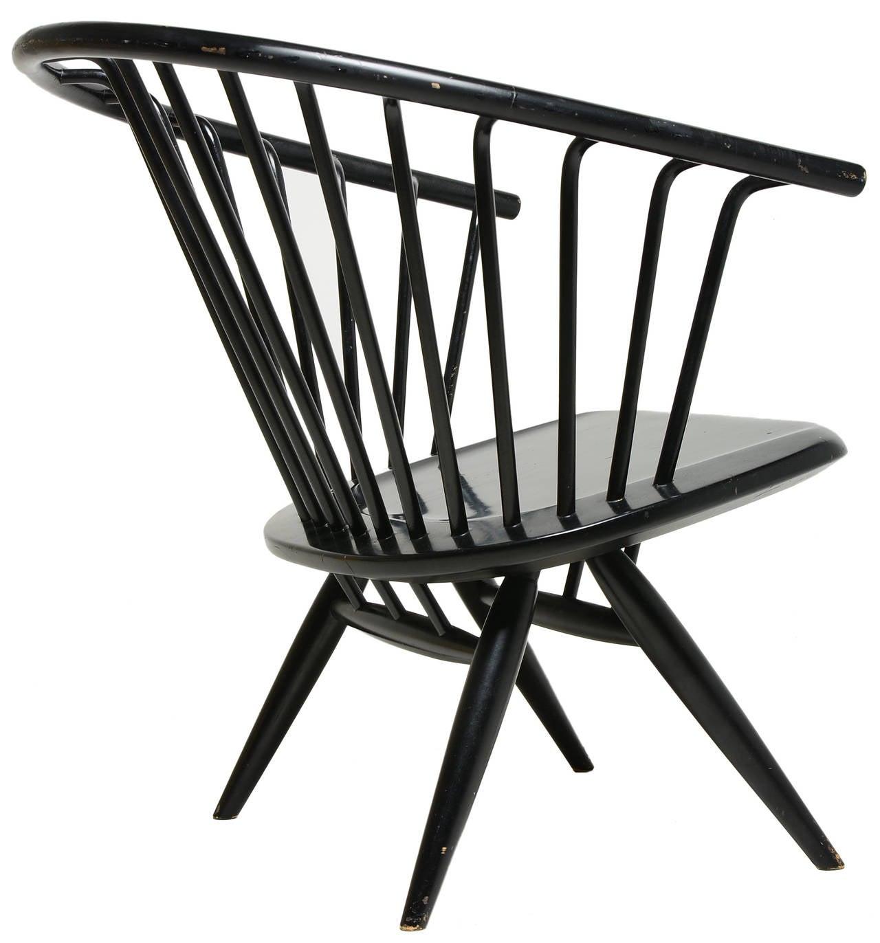 Painted Ilmari Tapiovaara Crinolette Lounge Chair For Sale