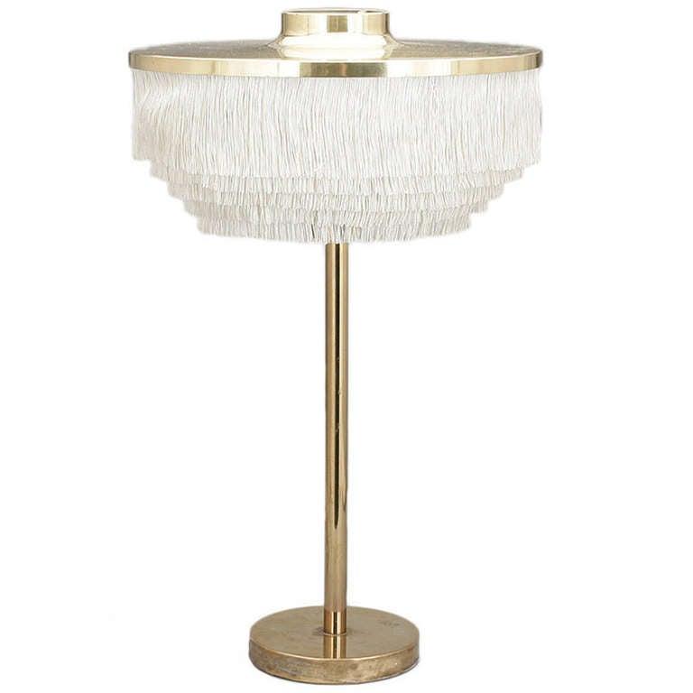Unusual Hans Agne Jackobsson Brass Table Lamp At 1stdibs
