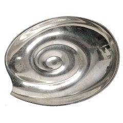Tapio Wirkkala opened snail tray in Silver