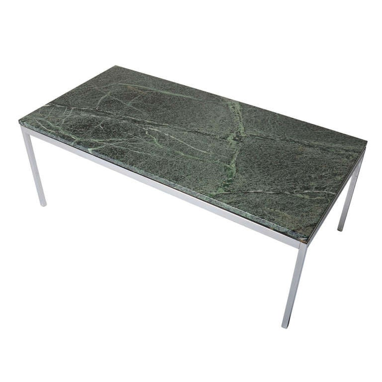 Rare Florence Knoll Coffee Table With Verde Alpi Marble Top At 1stdibs