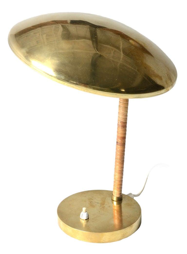adjustable solid brass table lamp for sale at 1stdibs. Black Bedroom Furniture Sets. Home Design Ideas