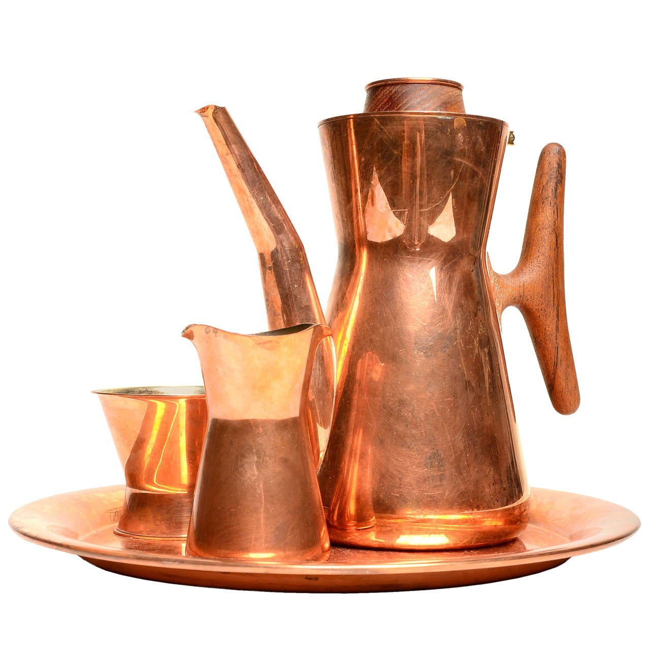 Tapio Wirkkala Copper and Silver Coffee Set